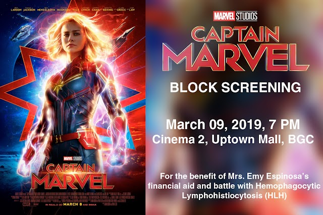 Captain Marvel Block Screening for a Cause