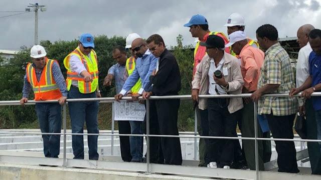 Alejandro Montas: Planta Depuradora Mirador Norte-La Zurza está avanzada en un 95%