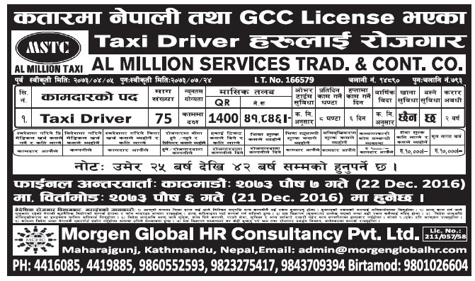 Jobs in Qatar for Nepali, Salary Rs 41,746
