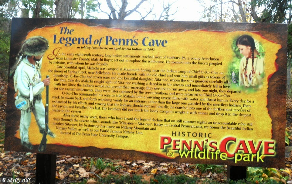 Penn's Cave and Wildlife Park in Centre Hall