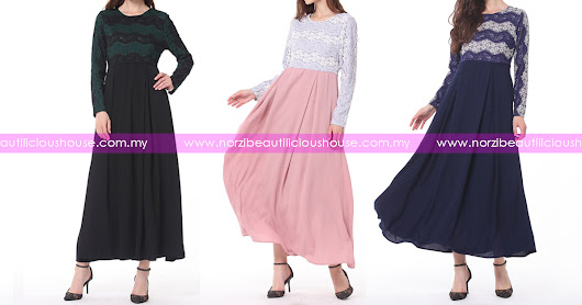NBH0569 JUBAH LACE LUTHFIYYAH (MATERNITY, PLUS SIZE & WUDHUK FRIENDLY)