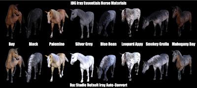 IDG Iray Essentials - Daz Horse 2 and Centaur 7
