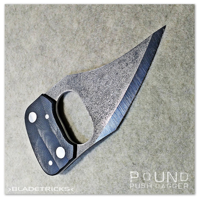 Amazing EDC tactical Push Dagger by knife maker Bladetricks badass knives