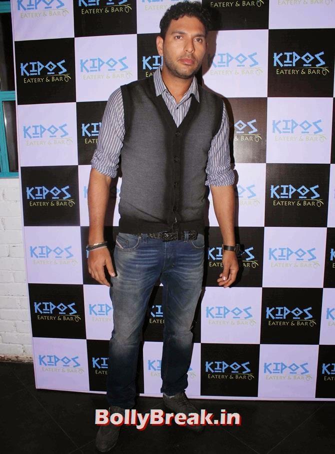 Yuvraj Singh, Tv Celebs at a restaurant launch