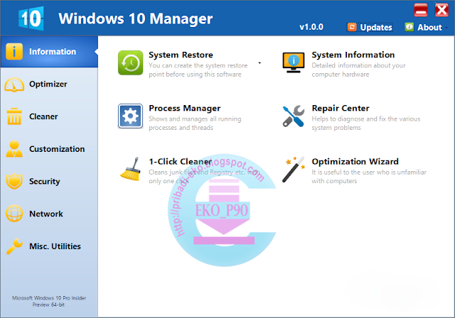 Download Windows 10 Manager 2.0.1 Final