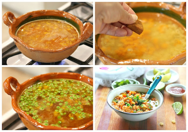 Mexican pasta soup recipe
