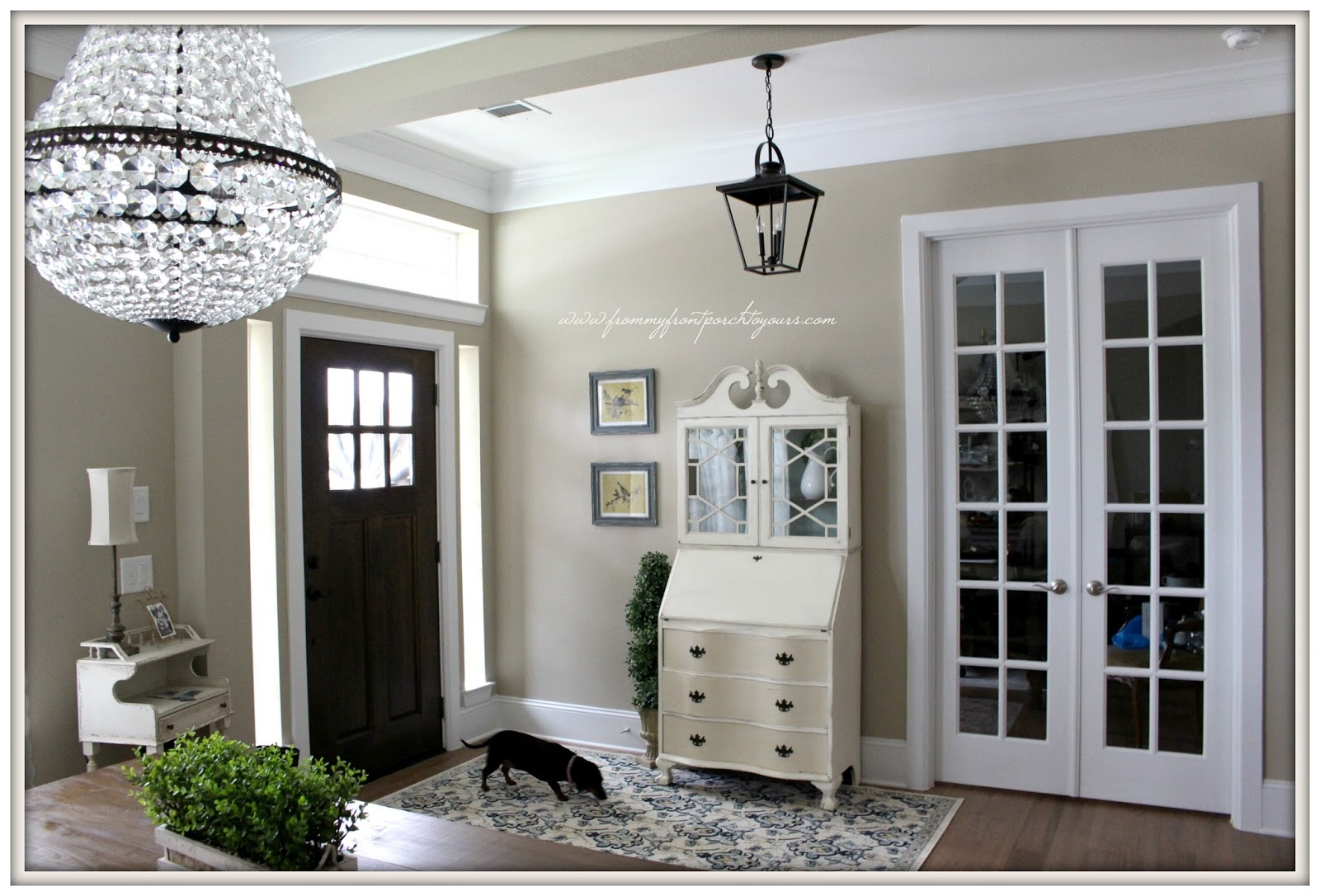 Carriage House Foyer Light : From my front porch to yours farmhouse foyer big plans