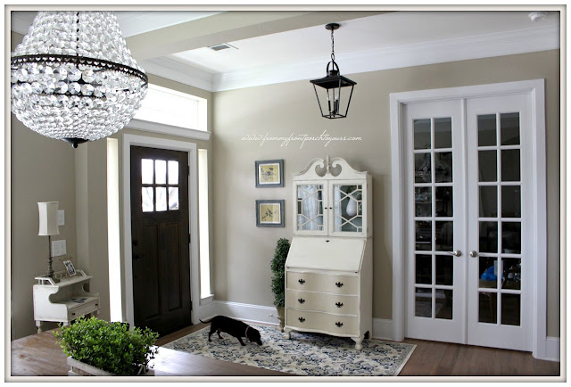 Farmhouse Foyer- French Farmhouse-French Country-Carriage House Lighting-From My Front Porch To Yours