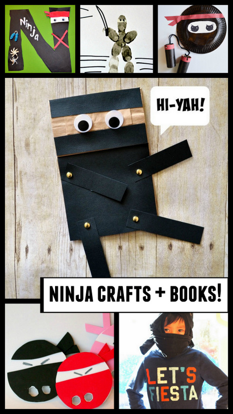 Super easy and fun ninja crafts and picture book ideas just perfect for preschoolers!