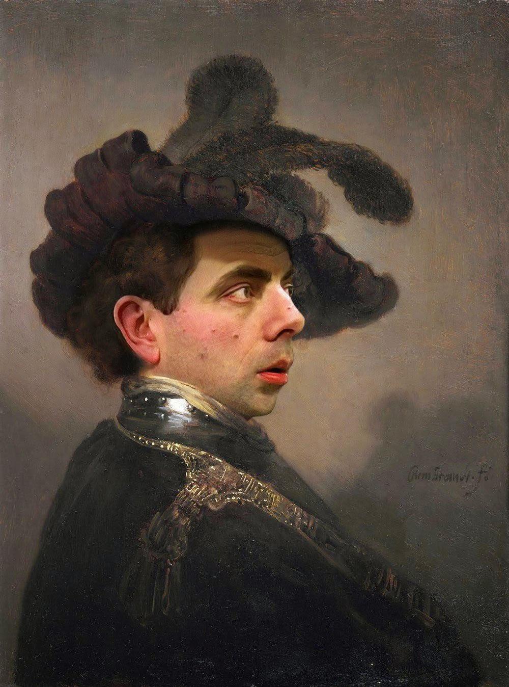 Lukisan Mr Bean Yang Lucu UNIK ANEH MENARIK LUCU