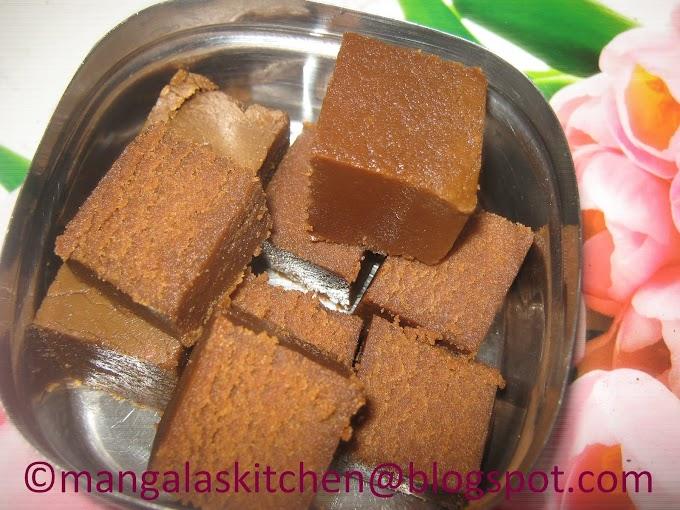 Tirunelveli Style Nellai Karupatti Ghee Mysore Pak - Mysore Pak using Palm Jaggery - Healthy Delicious Festival Sweet Recipe