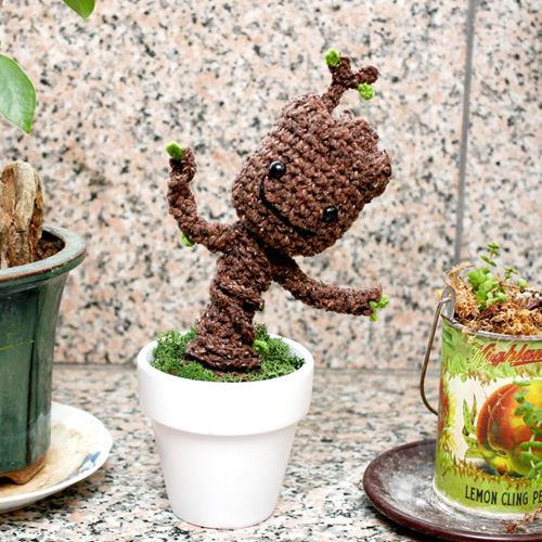 Potted Baby Groot from Guardians of the Galaxy - Free Pattern