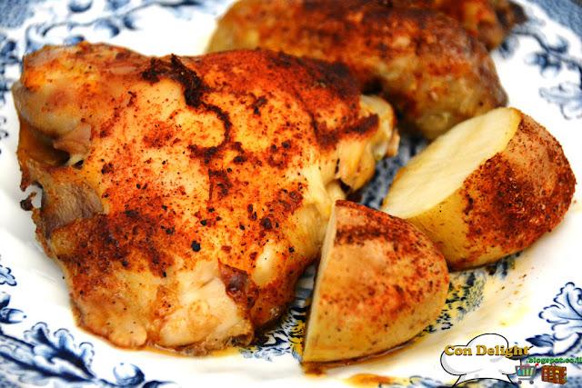 עוף אפוי בתנור chicken baked oven