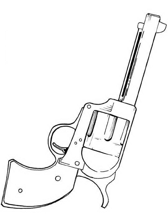free gta guns coloring pages
