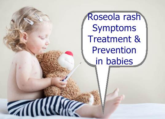 Roseola rash symptoms in babies picture