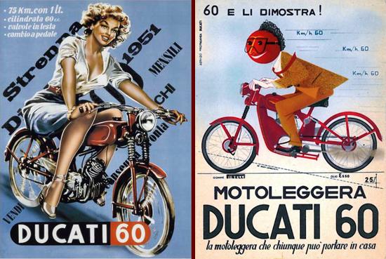 Ducati 60 advertising