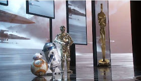 Star Wars' BB-8, R2-D2 and C-3PO arrive at the Oscars 2016
