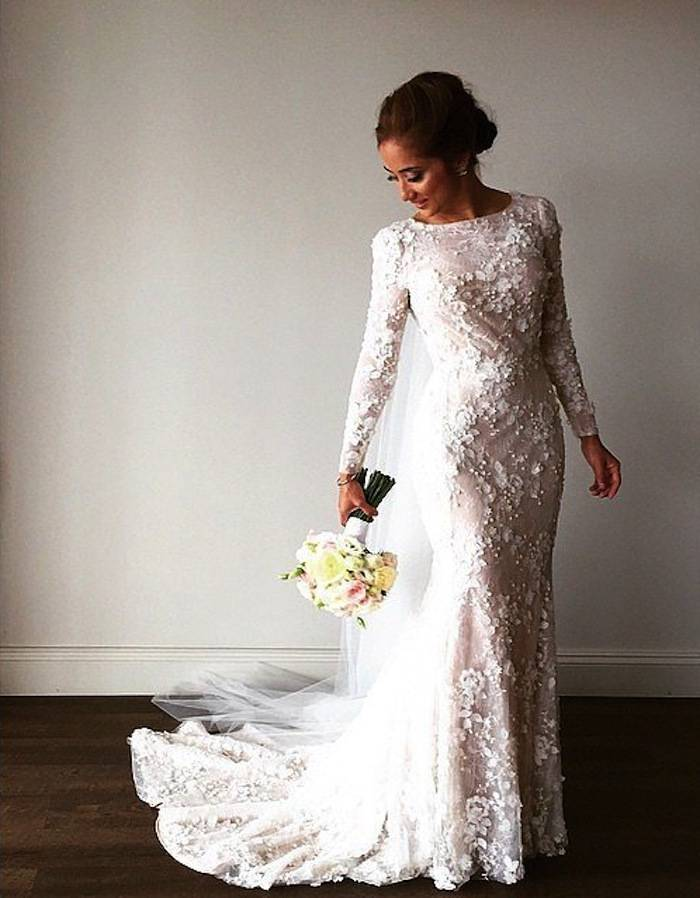 Wedding Dresses Modest Sleeves Lace