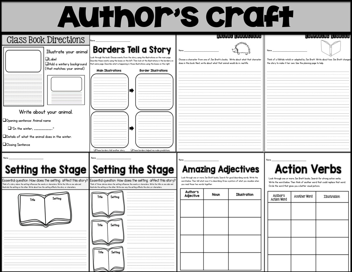 Sarah S First Grade Snippets Jan Brett Author Study