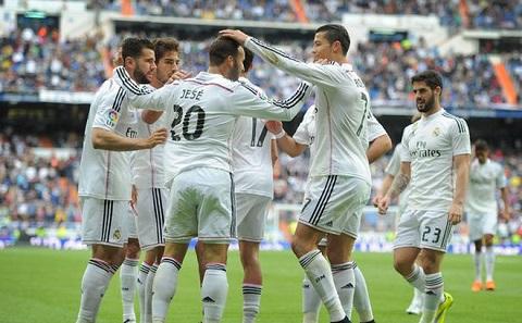 Ronaldo cùng đồng đội của mình trong trận hòa gặp đội bóng Eibar