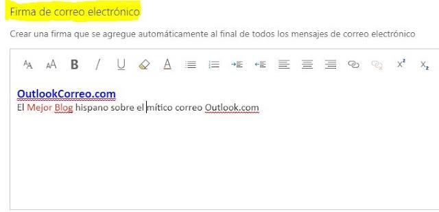 Crear una firma predeterminada para que se agregue automáticamente a los correos salientes de Outlook