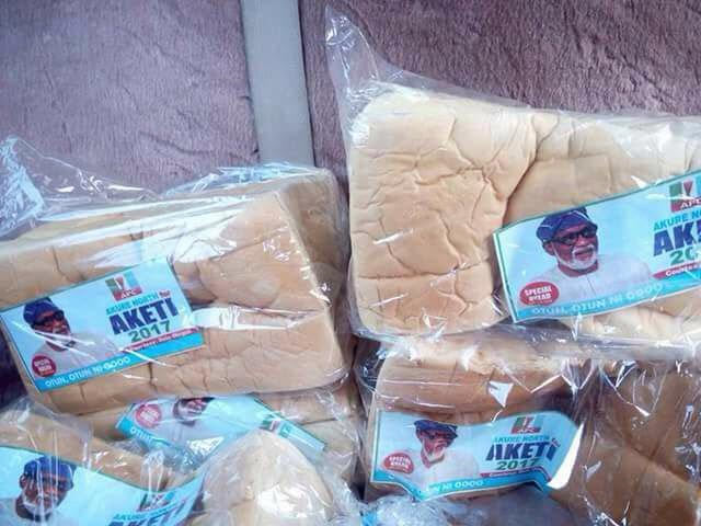 Ondo State guber election: APC shares loaves of bread to attract voters