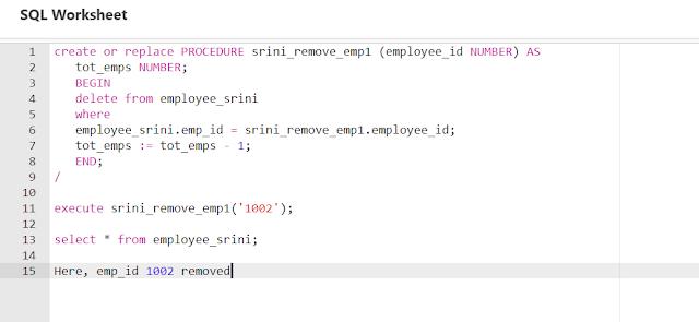 Sample PL/SQL script
