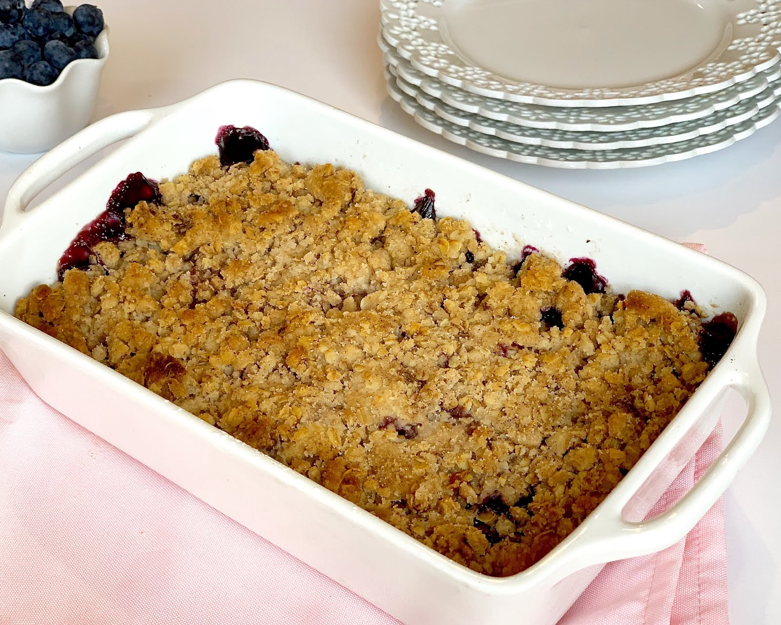 Easy Blueberry Crisp Using Frozen Berries The Lindsay Ann