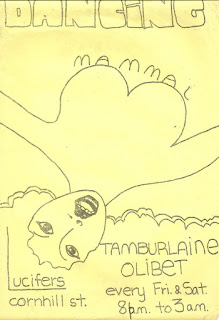 A poster for Mammal and Tamburlaine at Wellington club Lucifer's in 1972
