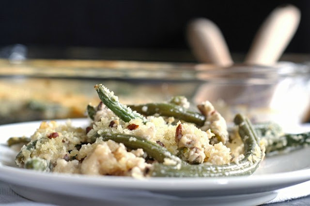 Gorgonzola Green Bean Casserole by Honey & Birch