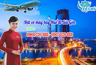 Vé máy bay Huế đi Sài Gòn giá rẻ