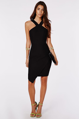 Asymmetrical Dress pendek paha mulus ndah