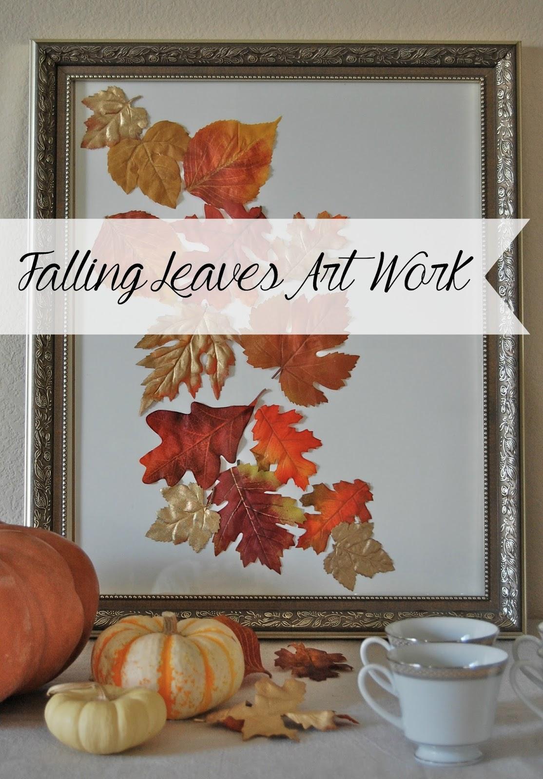 Falling Leaves Art Work Desert Willow Lane