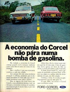 propaganda Ford Corcel - 1970; os anos 70; brazilian cars in the 70s; Oswaldo Hernandez; década de 70;