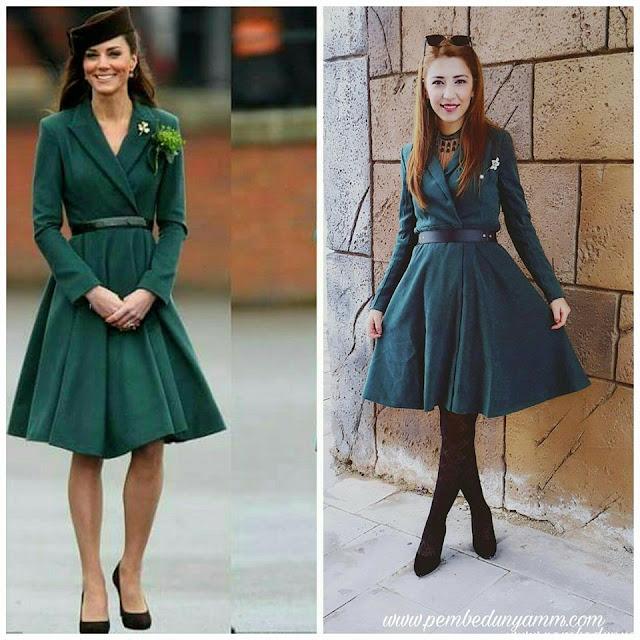 yeşil süet elbise