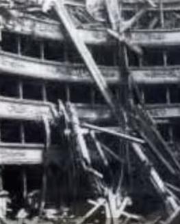 Το παλαιό Δημοτικό Θέατρο της  Κέρκυρας βομβαρδισμένο