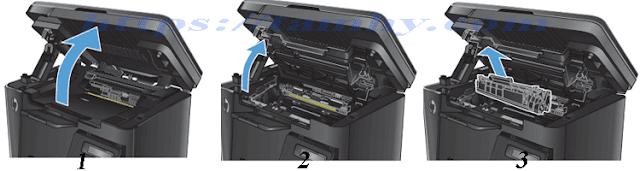 Cách thay Mực máy in Hp M127, M125 (Mực in HP 83A) 1