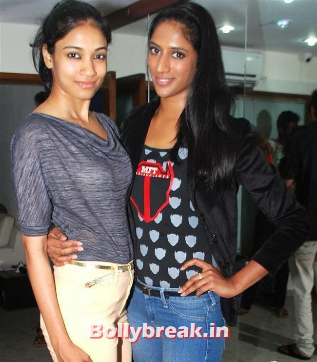 Bhagyashree Raut and Sheela Tiruchy, Reyhna Malhotra at Sucheta Fitness Studio Launch Party