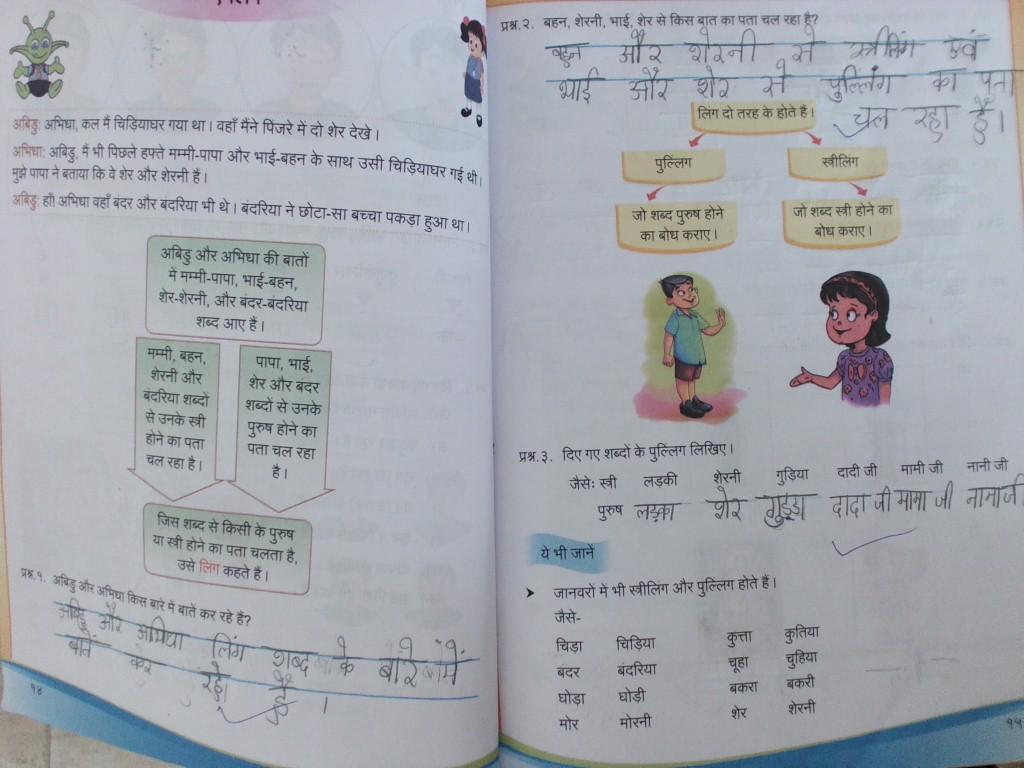 Standard 3: Class-3rd Hindi Grammar \u0026 Worksheet (Ling) [ 768 x 1024 Pixel ]