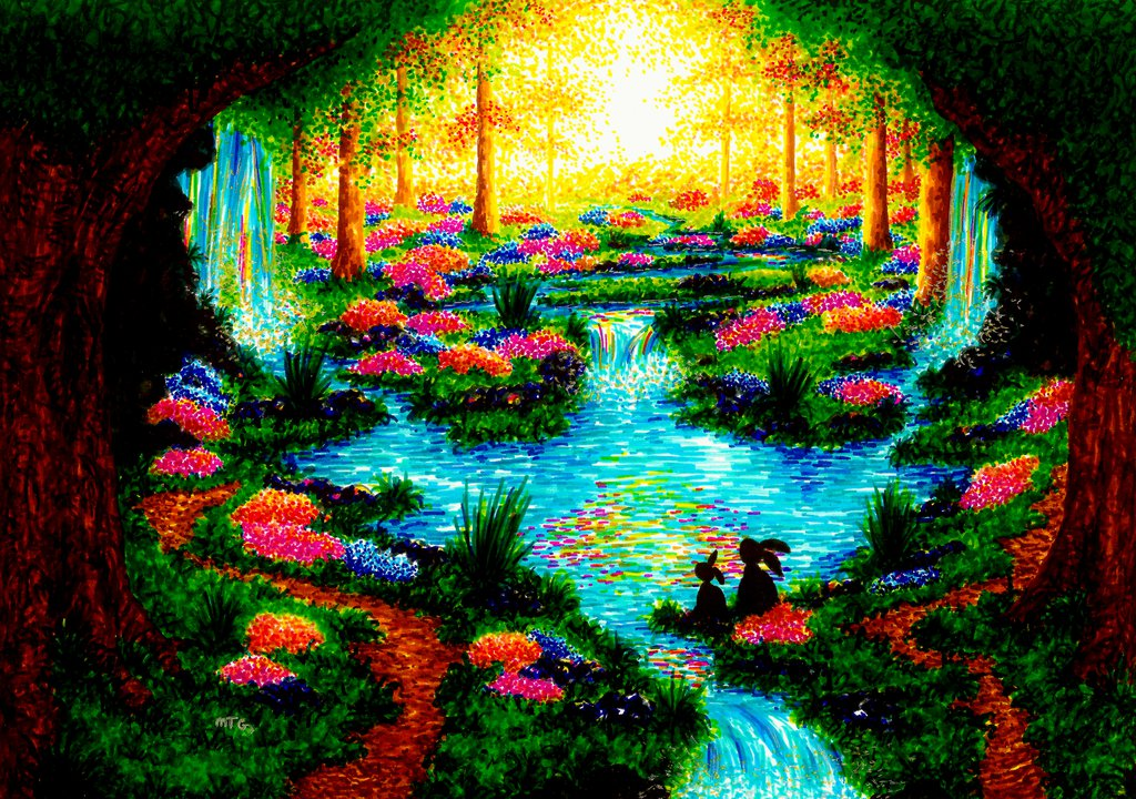 13-My-Paradise-XBUDDYFORME-Modern-Impressionist-Style-Applied-to-Vivid-Drawings-www-designstack-co