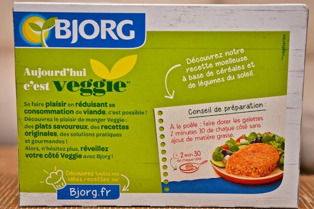 Galettes aux Céréales Légumes du Soleil Bjorg - Galettes végétariennes - Veggie - Bjorg - Dîner - Légumes - Plat préparé végétarien