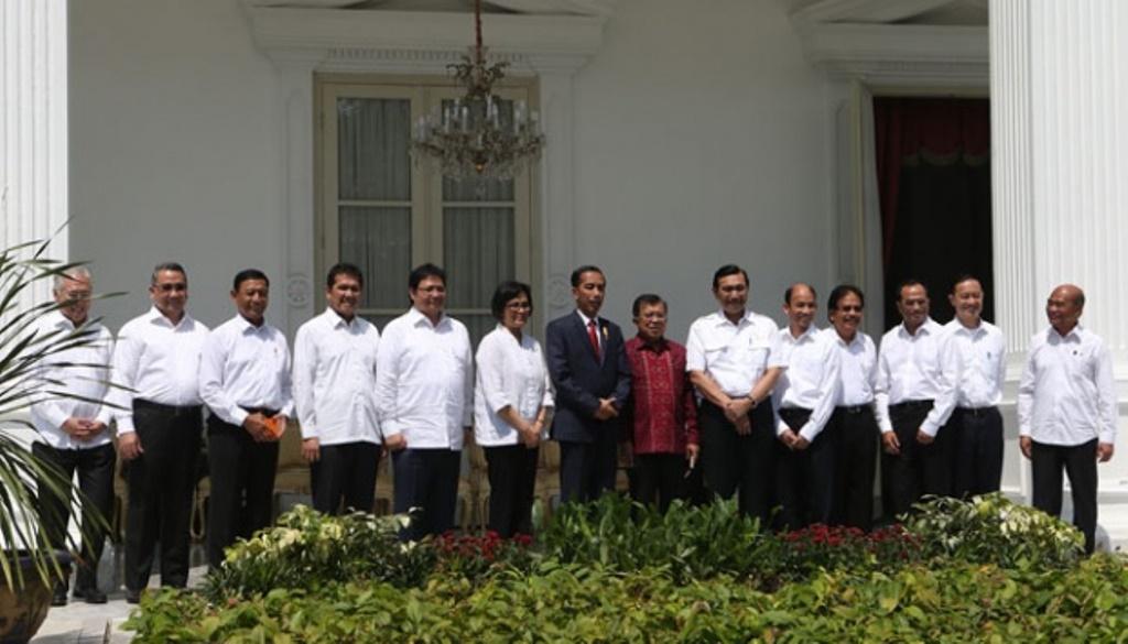 Susunan Mentri Baru Hasil Reshuffle Kabinet Kerja Jilid II