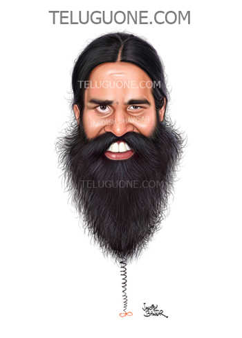 Ramdev Baba cartoon caricature