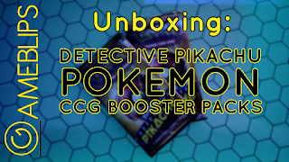 Unboxing - Detective Pikachu CCG Booster Packs
