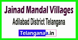 Jainad Mandal and Villages in Adilabad District Telangana