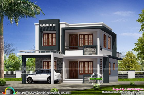 2076 sq-ft 4 bedroom modern home design