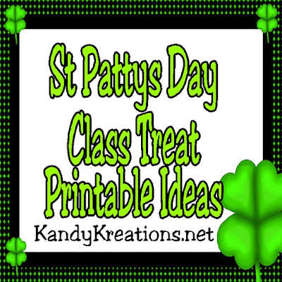 Celebrate St Patrick's day with these fun class treat printable ideas.  You'll be the most aaahhh-mazing room mom to your class by using these sweet printables.  Or make them for your kids as a morning pick me up or after school snack to have a memorable holiday this year.