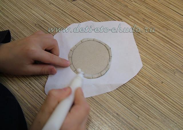 Карандашница из папиросной бумаги