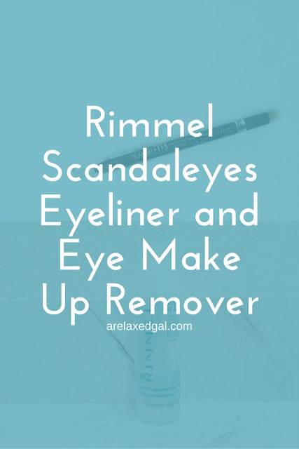 Two eye products that could help up your eye makeup game -  Rimmel London's Scandaleyes Kohl Kajal Eyeliner and Gentle Eye Make Up Remover. | arelaxedgal.com