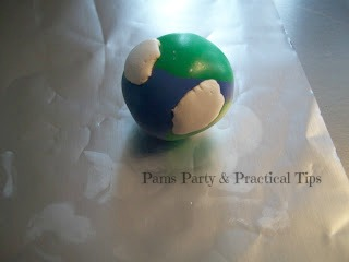 Earth Day Clay Bead with Clouds